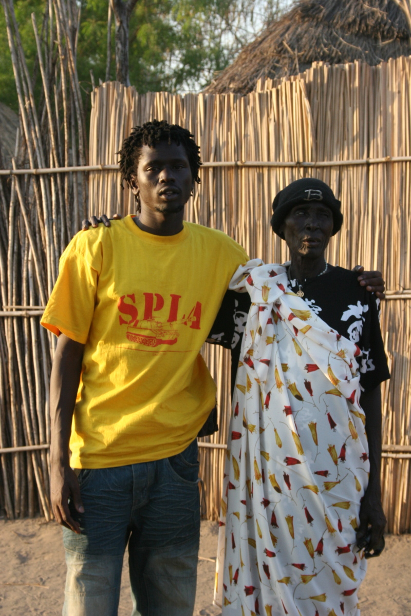 Emmanuel Jal with his Grandma