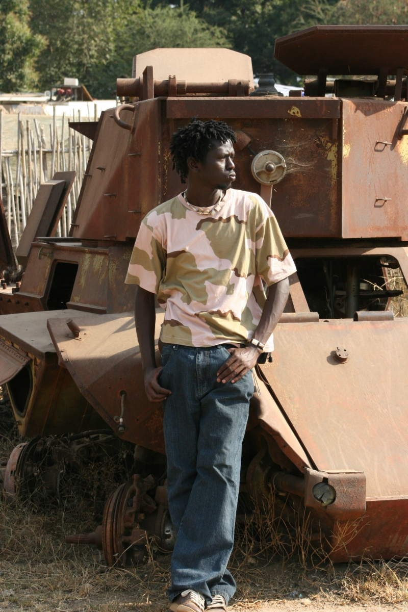 Emmanuel with another tank