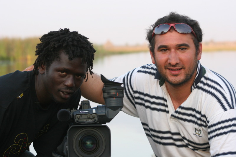 Karim Chrobog and Emmanuel with camera