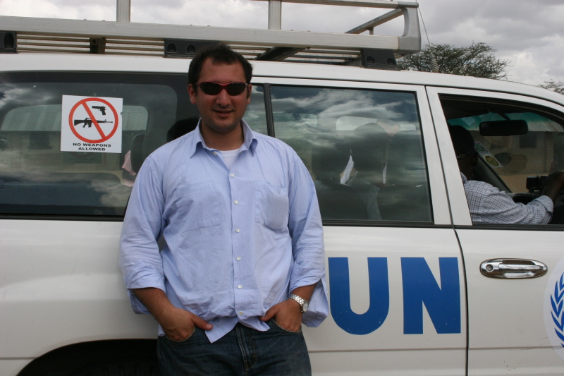 Karim Chrobog with UN car